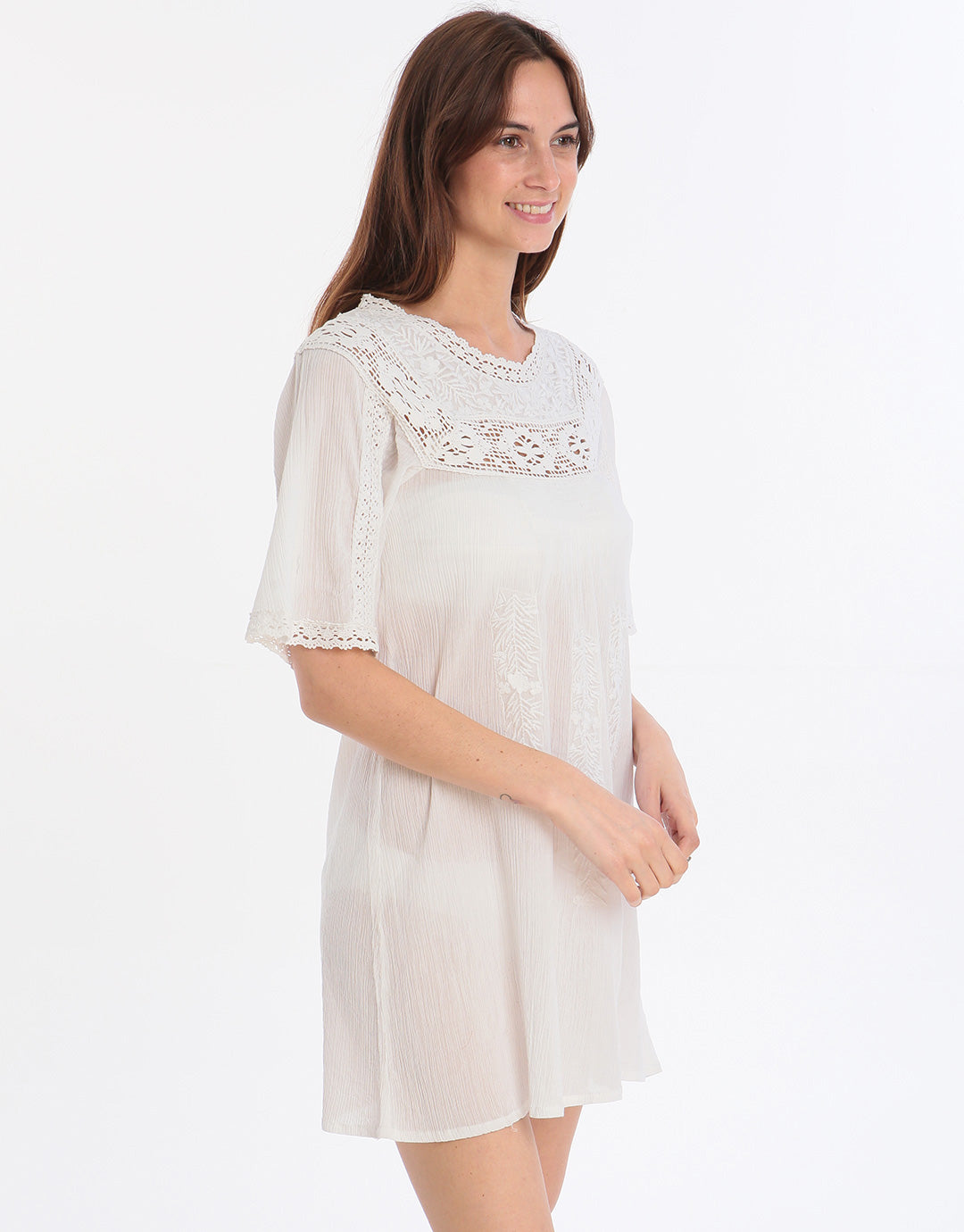 Iconique Beachwear Kaftan - White