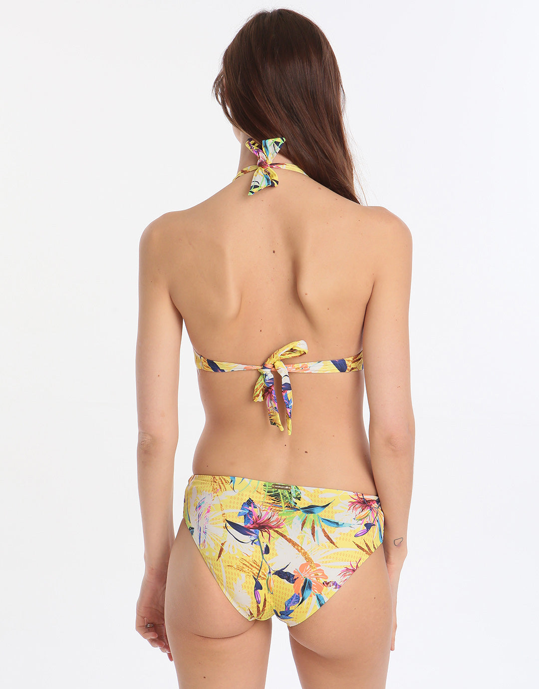 Watercult Hyper Tropics Ruched Side Brief - Tropical Sunshine