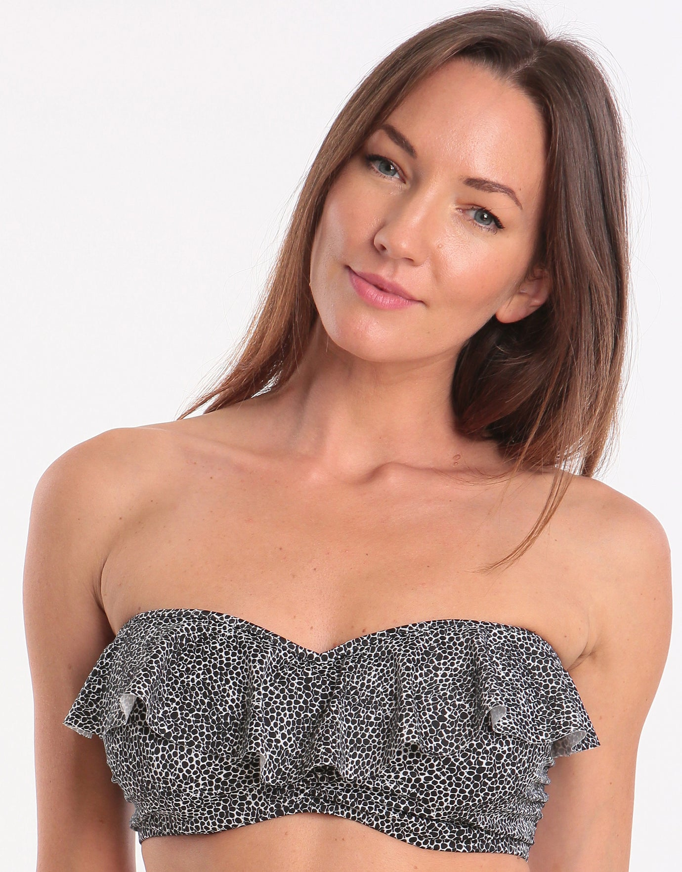 Freya Run Wild UW Padded Frill Bandeau Top - Black