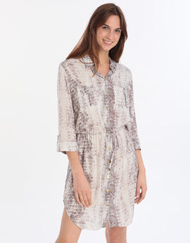 Heidi Klein Mini Shirt Dress - Snake