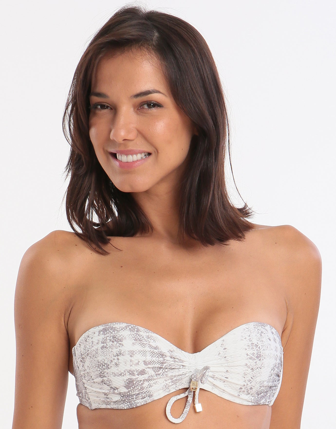 Heidi Klein Core Textured Bandeau Top - Snake