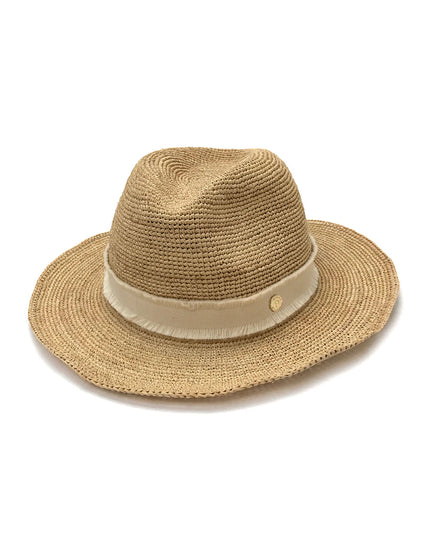 Heidi Klein Cape Elizabeth Natural Raffia Fedora Hat - Natural