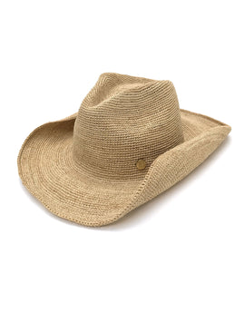 Heidi Klein Cape Elizabeth Natural Raffia Cowboy Hat - Natural