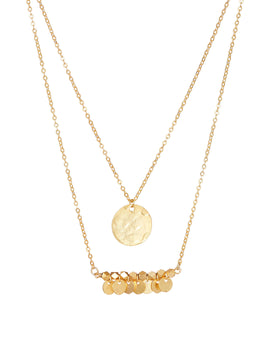 Ashiana Greek Island Necklace - Gold