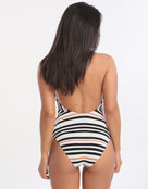 Jets Vista High Neck Swimsuit - Black White
