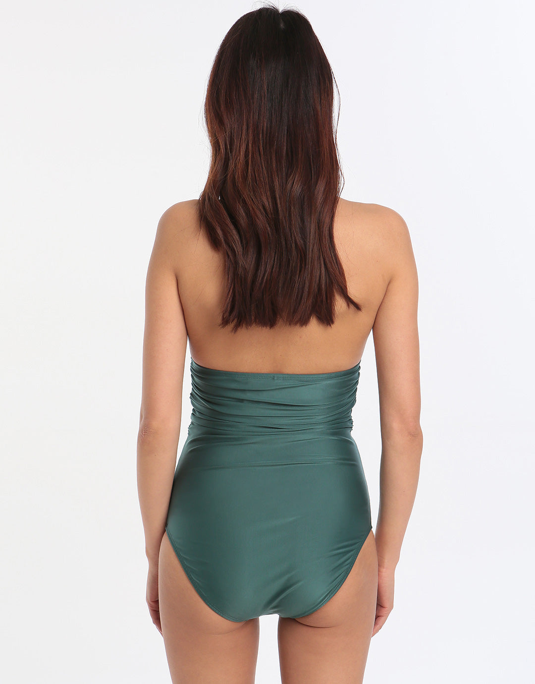 ViX Solid Bia Tube Swimsuit - Green
