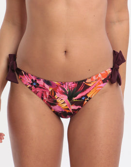 Banana Moon Tropisun Menda Tie Side Bikini Bottom - Prune