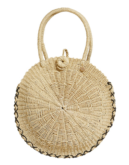 Seafolly Carried Away Round Beach Basket - Natural