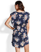 Seafolly Mid Summer Florals Beach Dress - Indigo