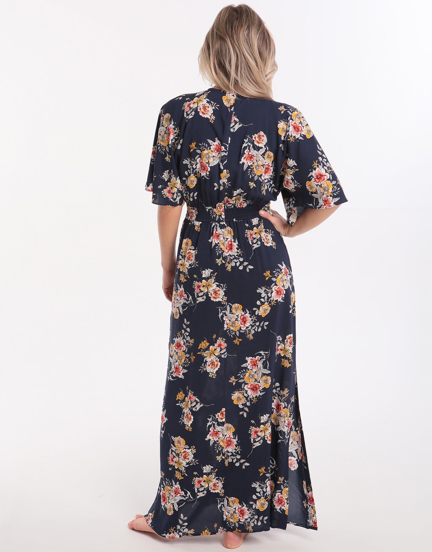 Seafolly Mid Summer Florals Maxi Beach Dress - Indigo