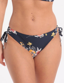 Seafolly Mid Summer Loop Tie Side Hipster Bikini Bottom - Indigo