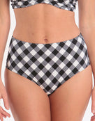 Freya Totally Check High Waist Brief - Monochrome