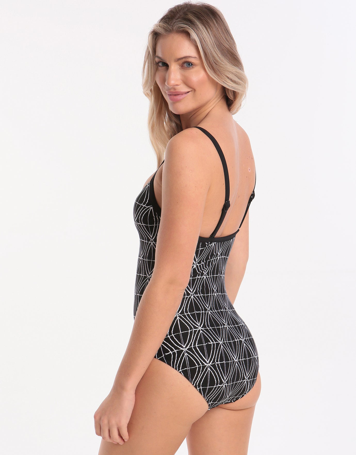 7e0a8b9460a Seafolly Tide Pool Sweetheart Swimsuit - Black | Simply Beach UK