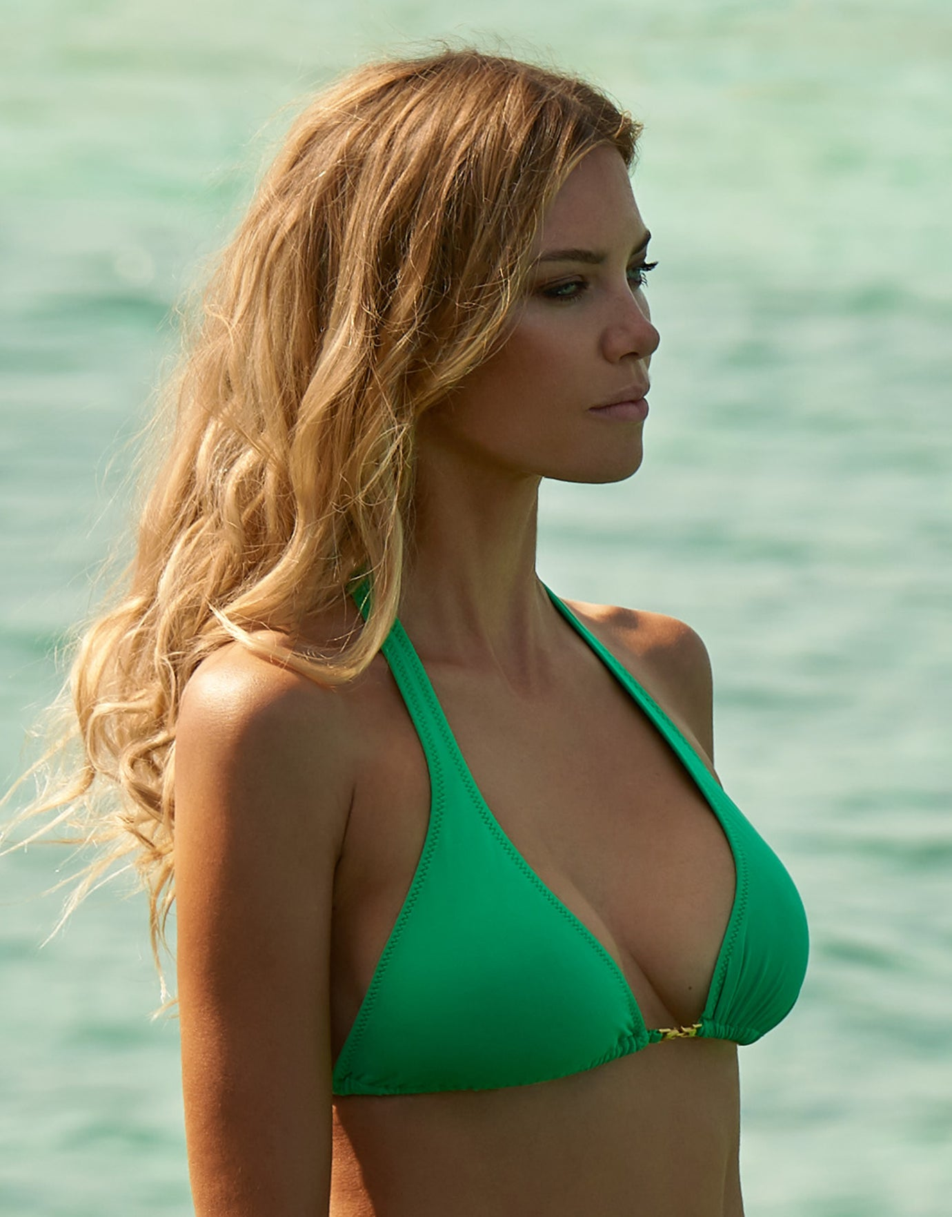 Melissa Odabash Mustique Triangle Bikini Top - Green