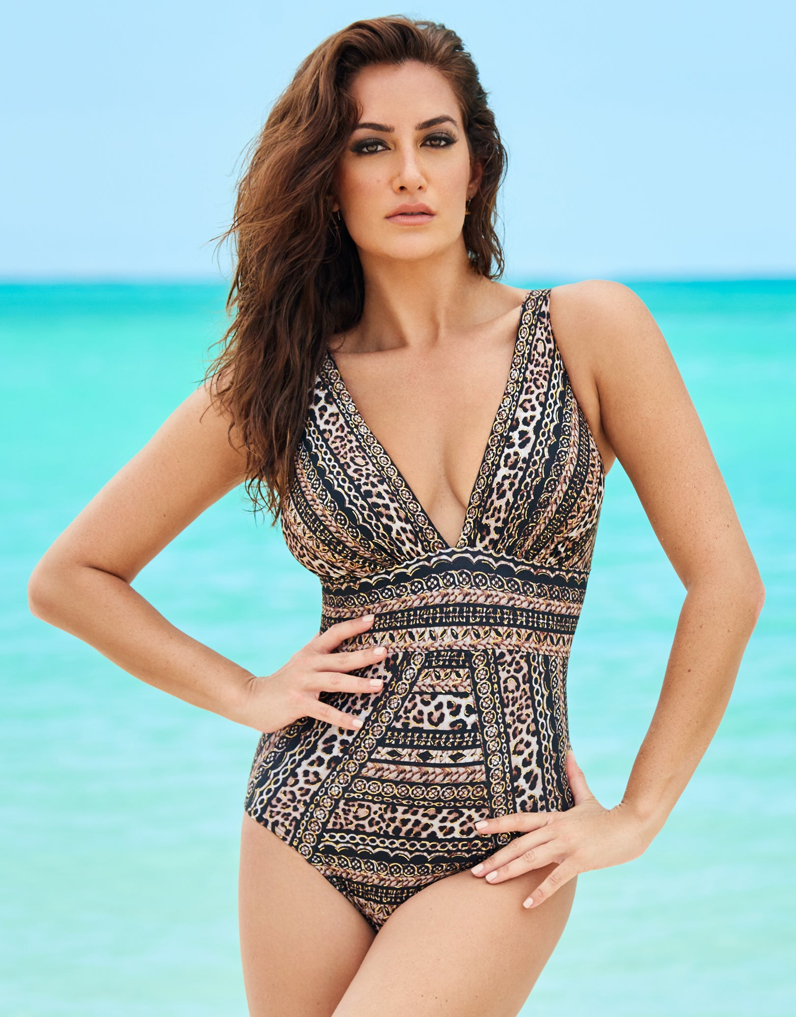 c8e8665806 Miraclesuit Lionessa Odyssey Swimsuit - Brown