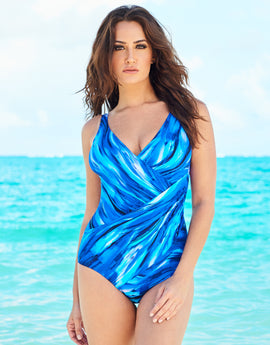 Miraclesuit The Breakers Oceanus Swimsuit - Blue