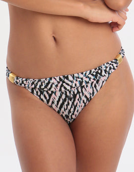 Jo Severin Nora Slide Hipster Bikini Bottom - Abstract