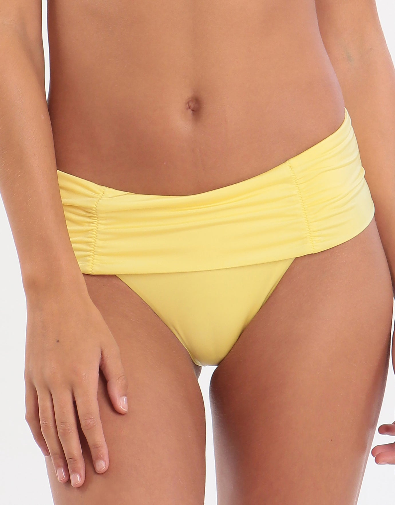 Jo Severin Anna Fold Bikini Bottom - Lemon