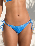 Jo Severin Alicia Ring Tie Bikini Bottom - Watercolour