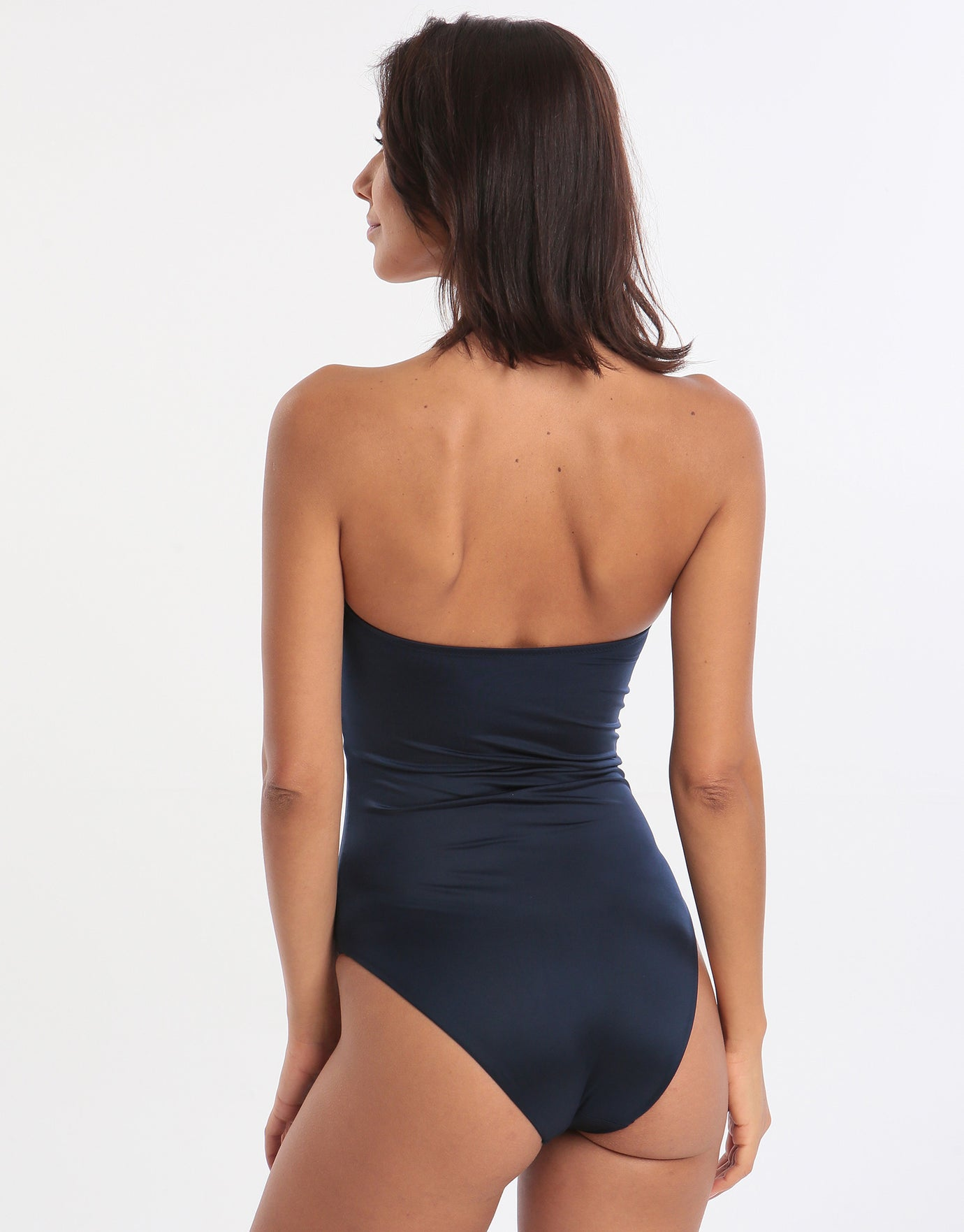 Jo Severin Ida Bandeau Swimsuit - Midnight