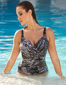Miraclesuit Feline Fixation Madero Swimsuit - Black/White