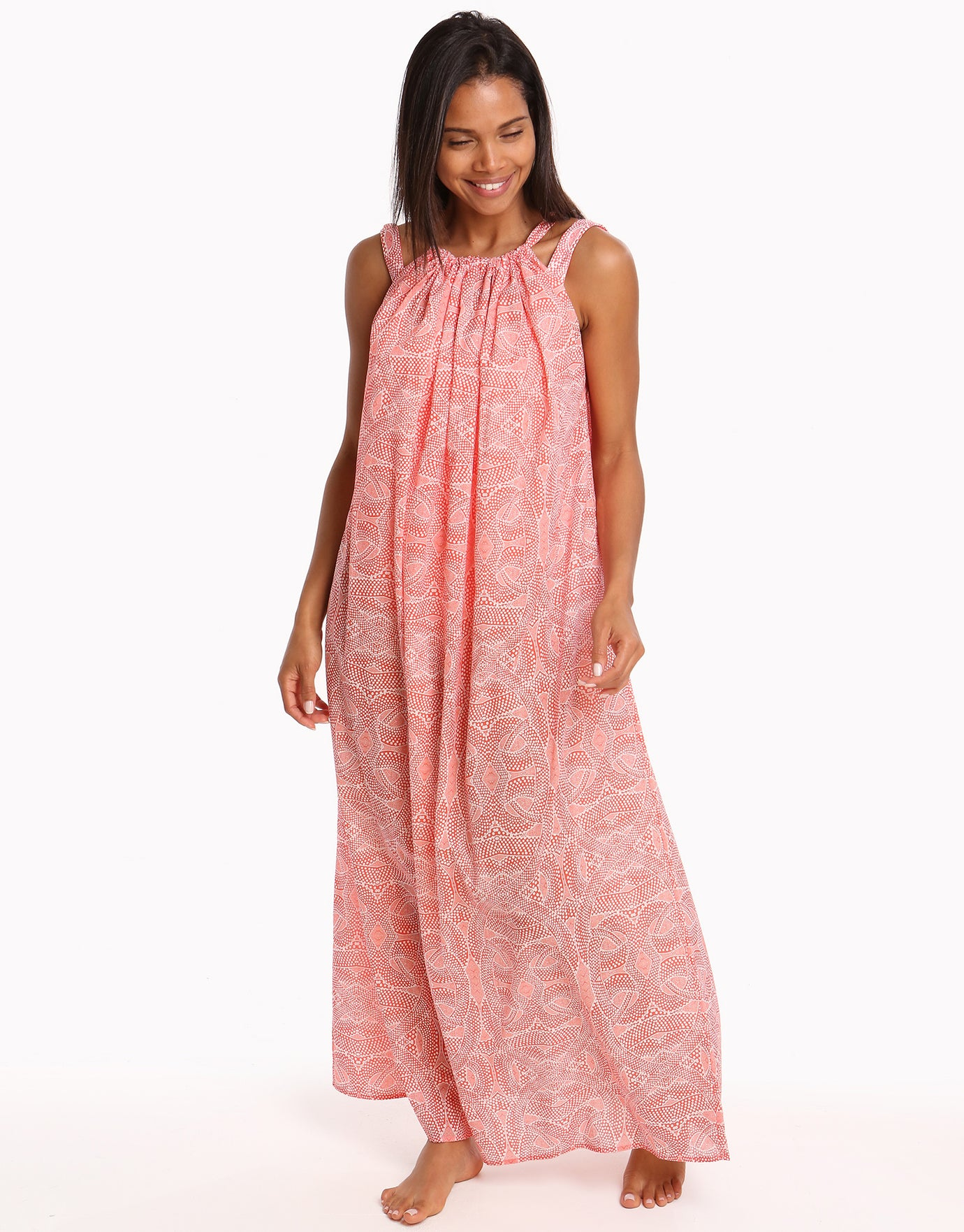 Paolita Malika Cotton Maxi Beach Dress - Print