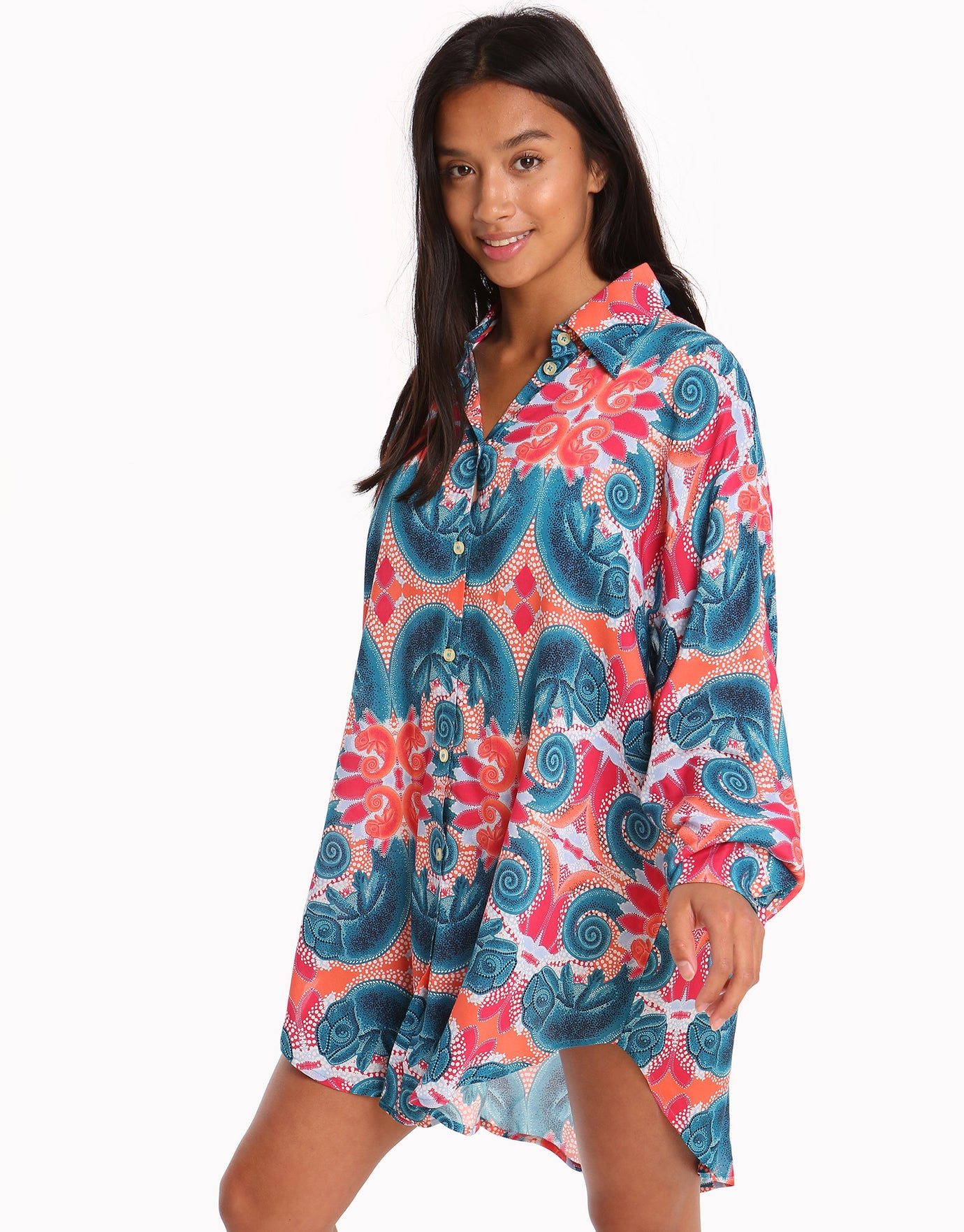 Paolita Zahur Open Back Beach Shirt - Print