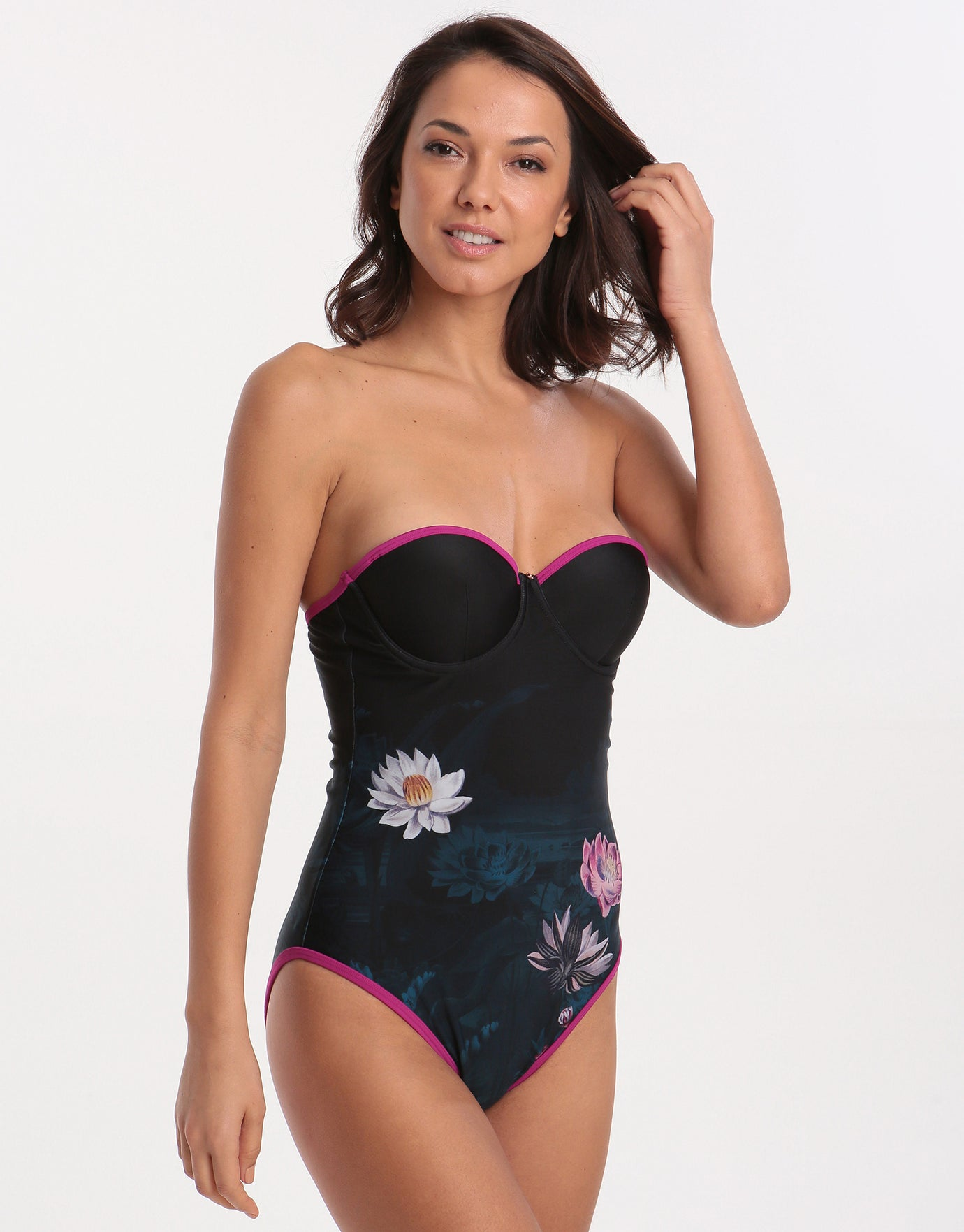 1b1ab701fee Ted Baker Wonderland Swimsuit - Dark Green | Simply Beach UK