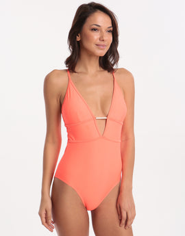 Ted Baker Plains Swimsuit - Coral