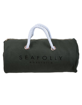 Seafolly Plain Rope Handle Rucksack - Dark Olive