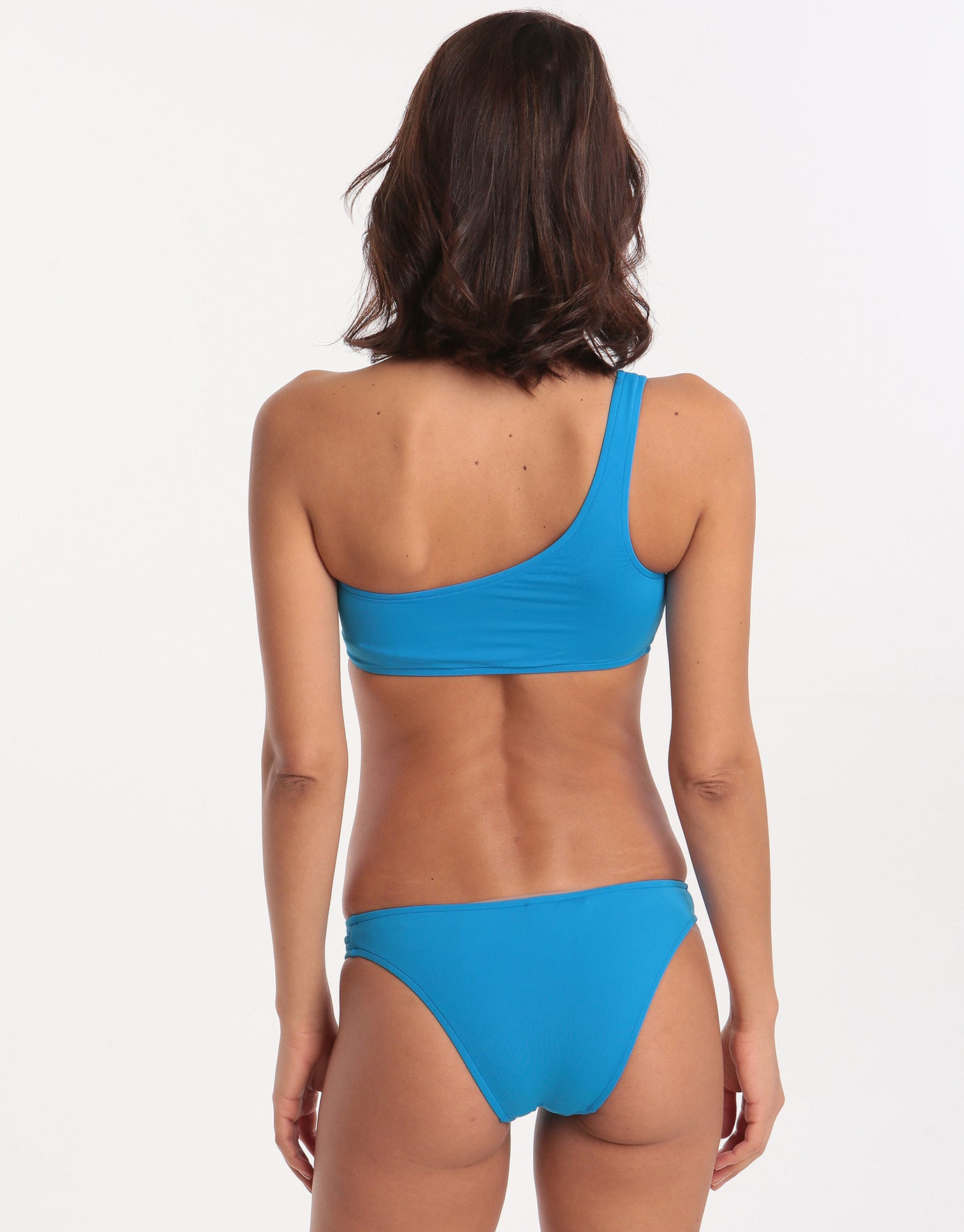 Seafolly Active Multi Rouleau Brazilian Bikini Bottom - Electric Blue