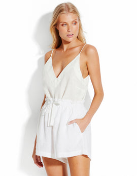Seafolly Linen Beach Shorts - White