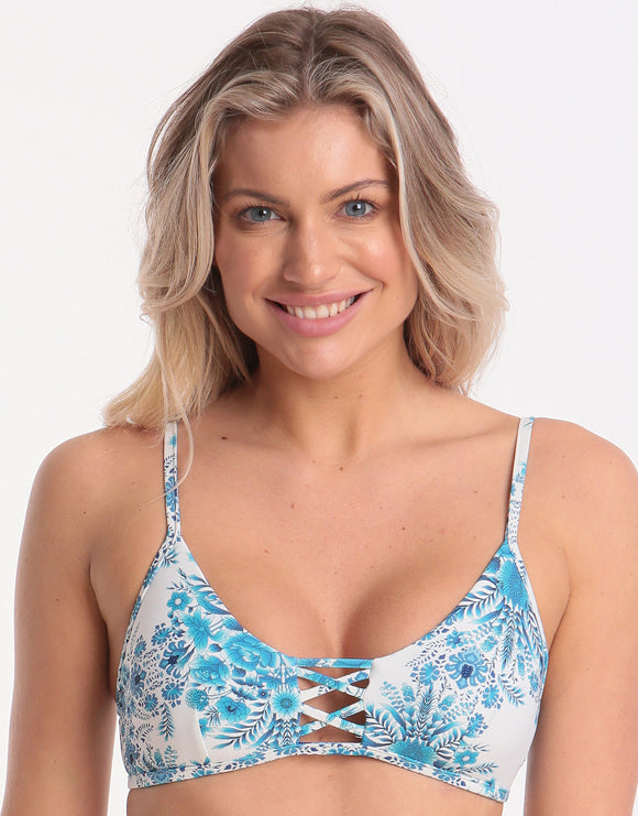 Seafolly Sunflower Bralette Bikini Top - Electric Blue