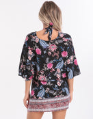 Seafolly Water Garden Border Kaftan - Black
