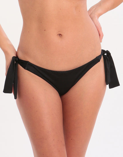 Seafolly Shine On Hipster Tie Side Bikini Bottom - Black