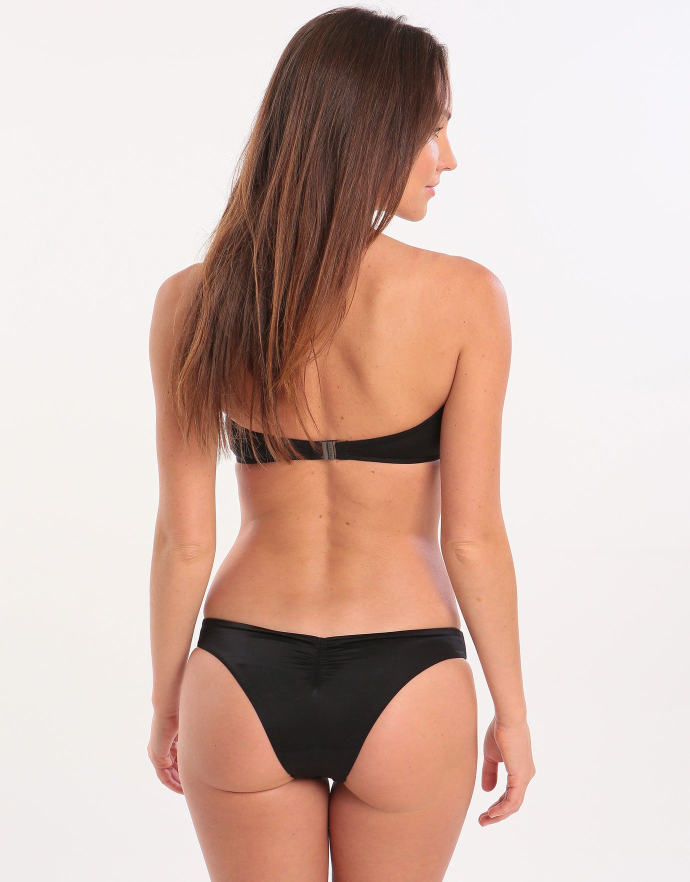 Seafolly Shine On Brazilian Bikini Bottom - Black
