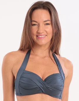 Seafolly Shine On Twist Soft Cup Halter Bikini Top Donna