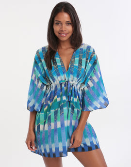 Gottex Highline Beach Dress - Multi Blue