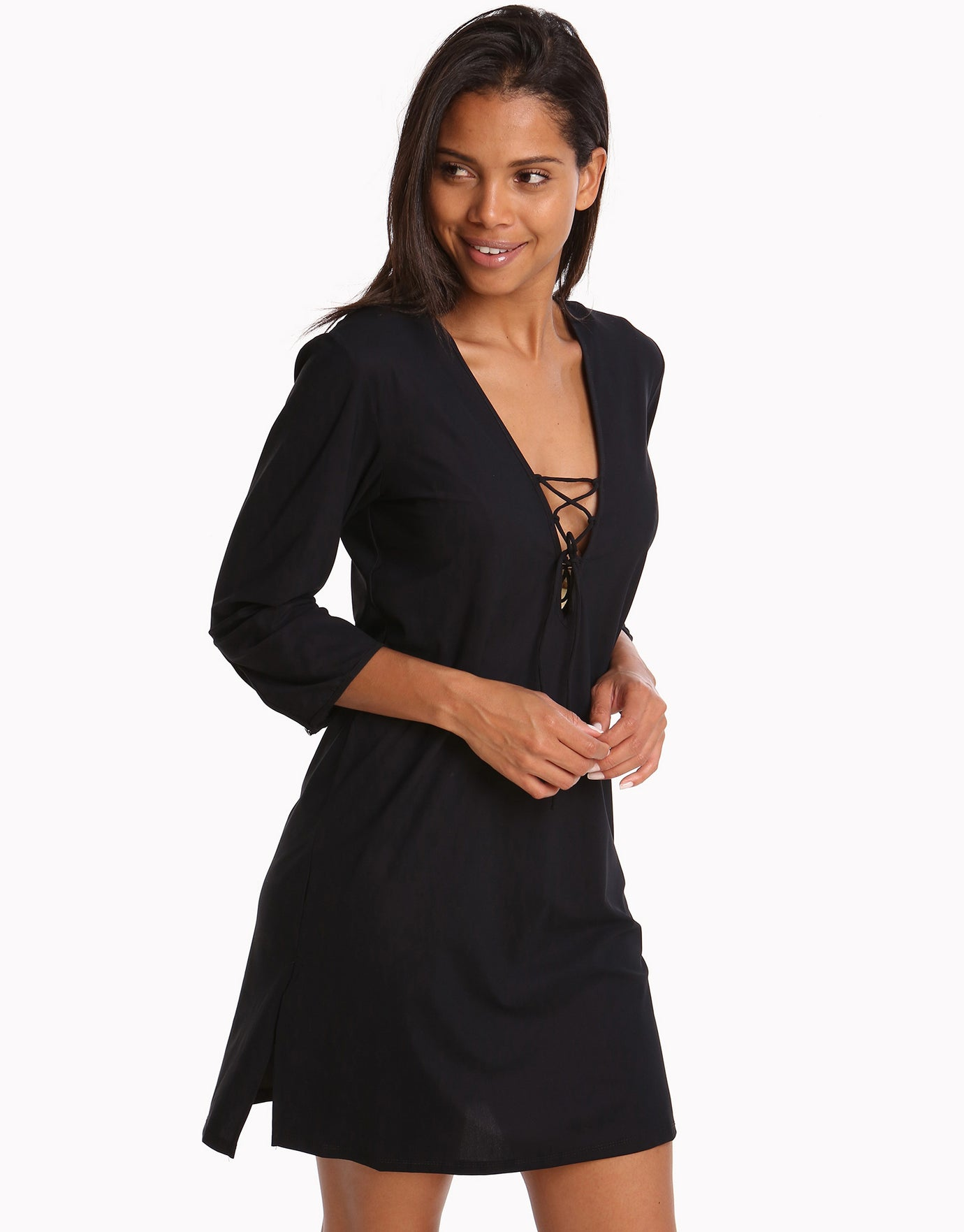 Gottex Vista Tunic Dress - Black