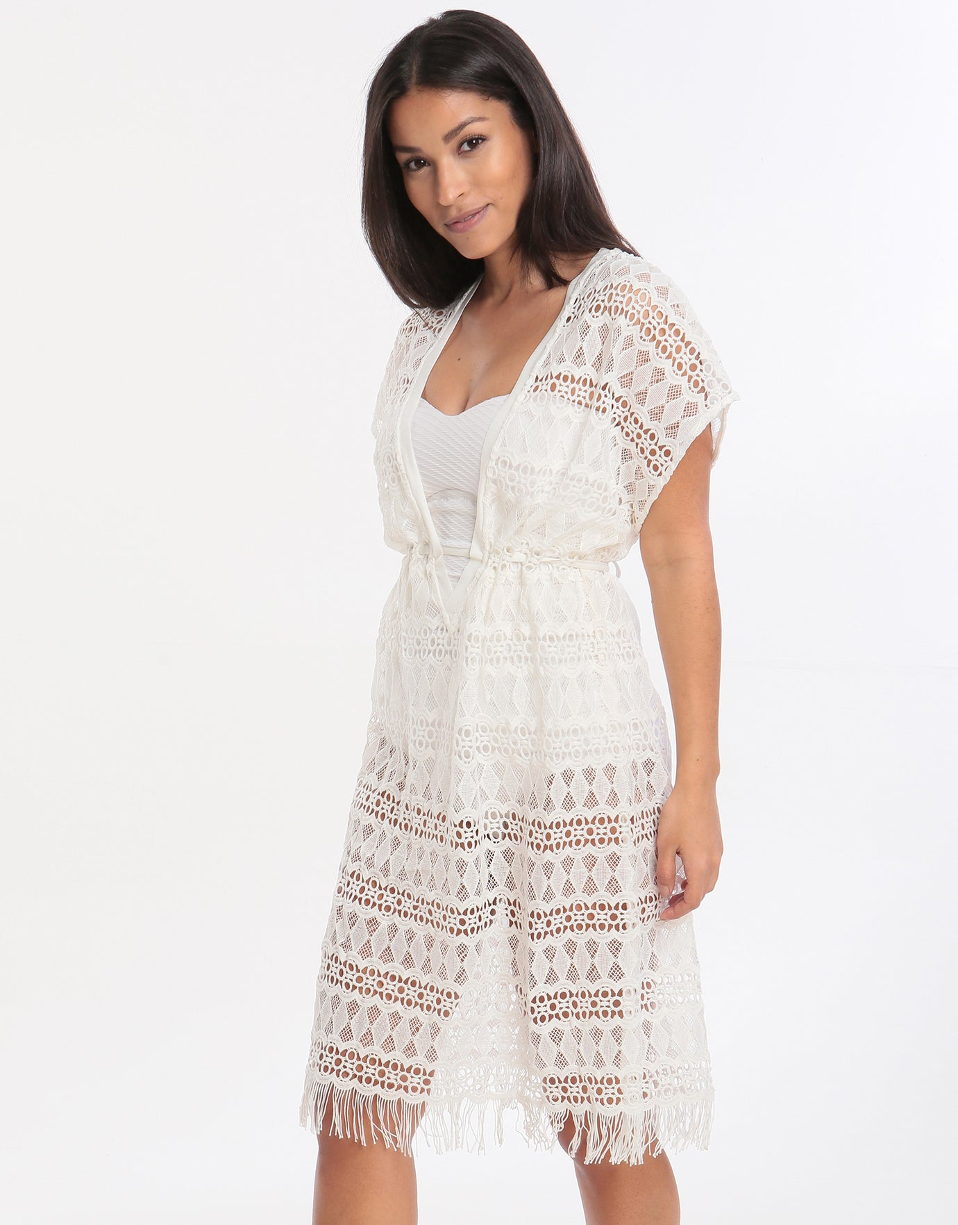 1def7d3be6 Gottex Profile Tutti Frutti Crochet Dress - White | Simply Beach UK