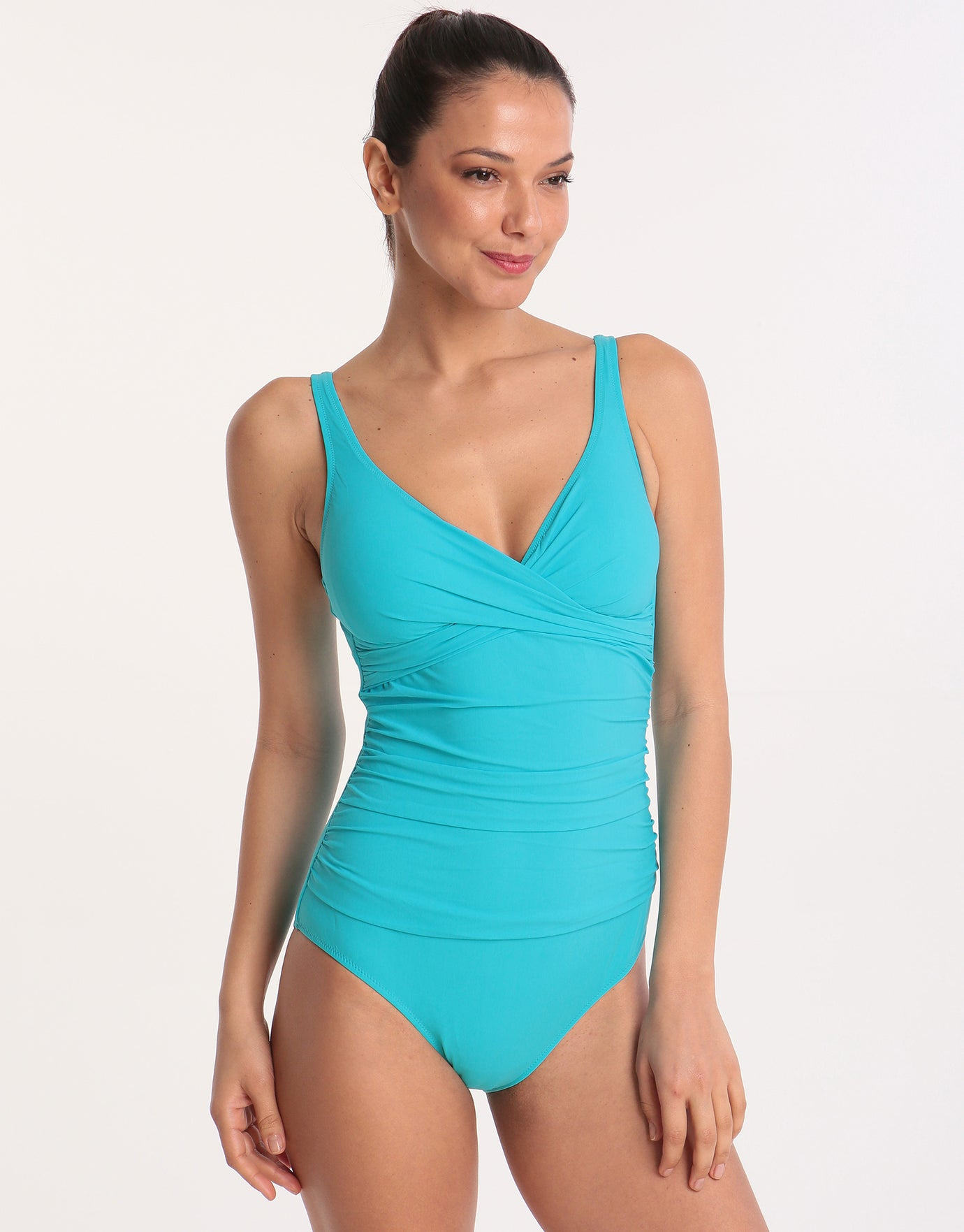 270ddf80fc Gottex Profile Tutti Frutti Crossover Swimsuit - Aqua | Simply Beach UK