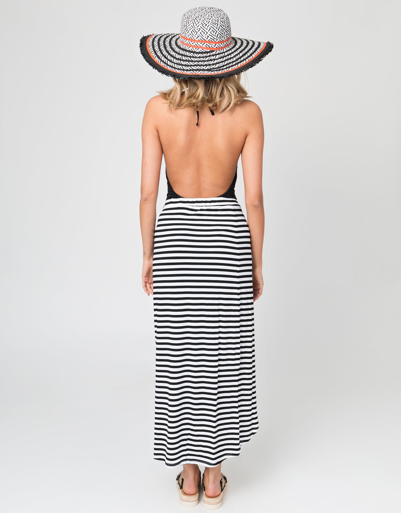 Pia Rossini Allure Maxi Skirt - Black/White