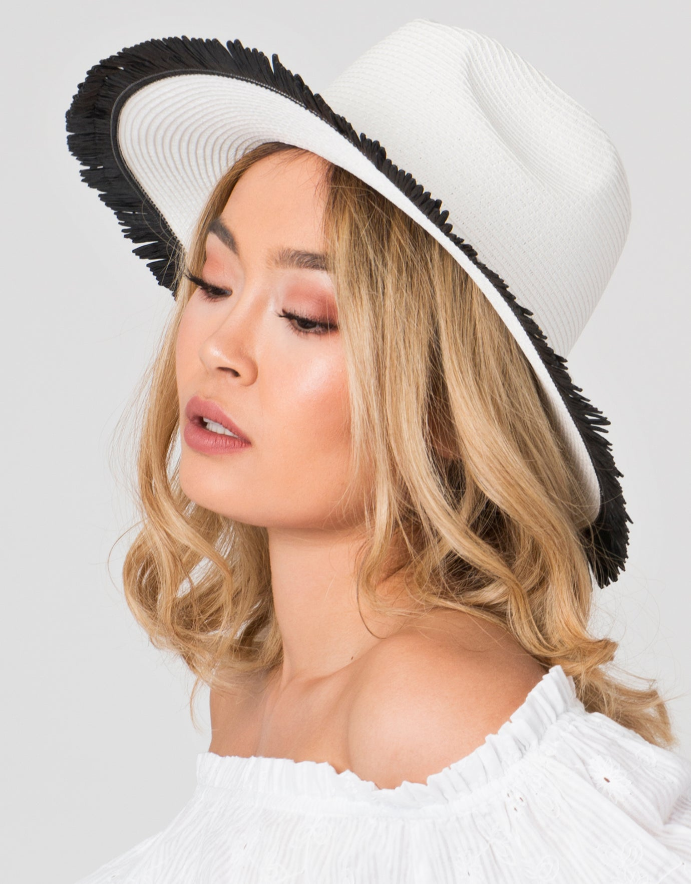 Pia Rossini Cira Beach Hat - White/Black