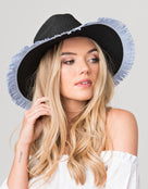 Pia Rossini Cira Beach Hat - Black/Blue