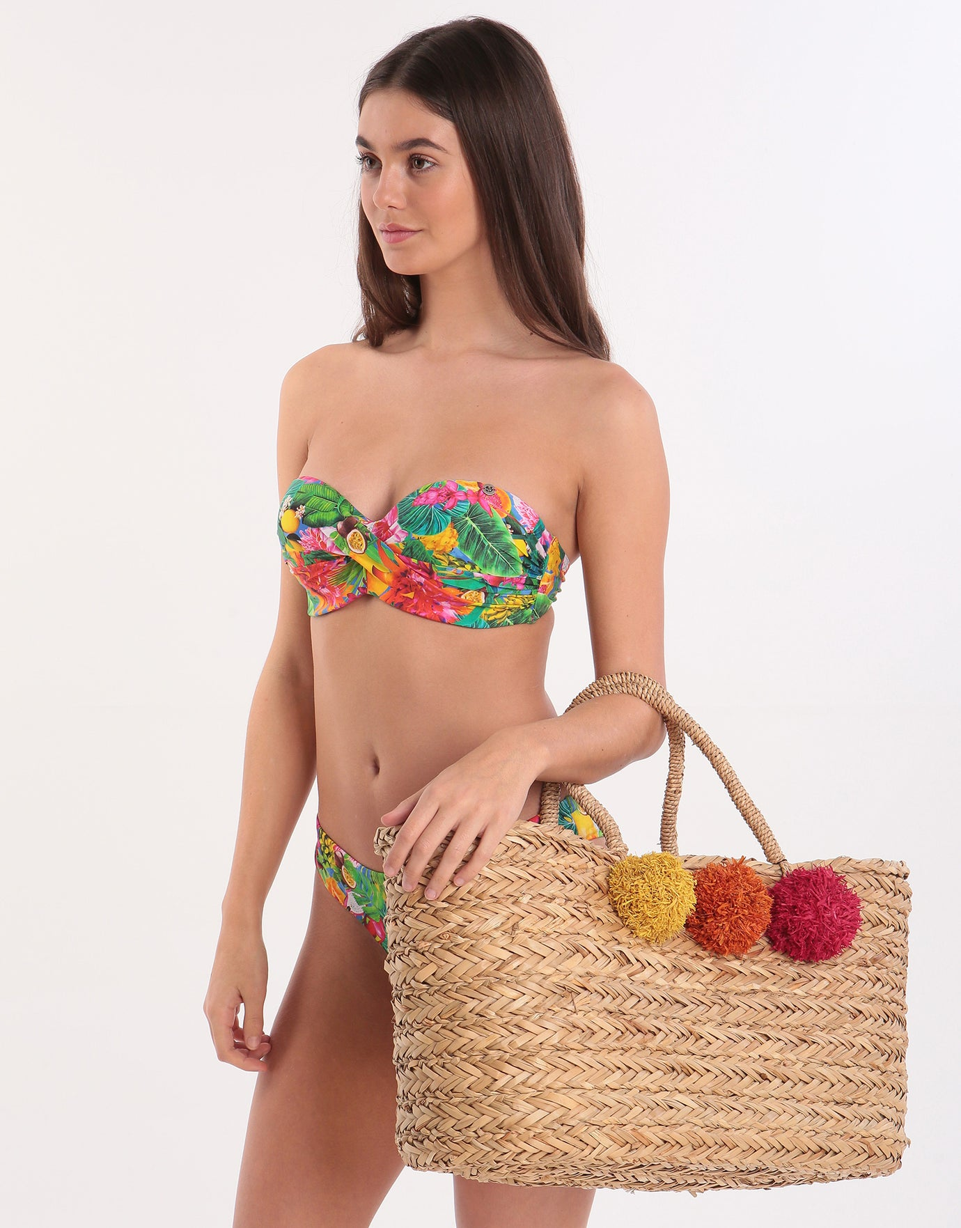 Pia Rossini Sozo Basket Bag - Natural