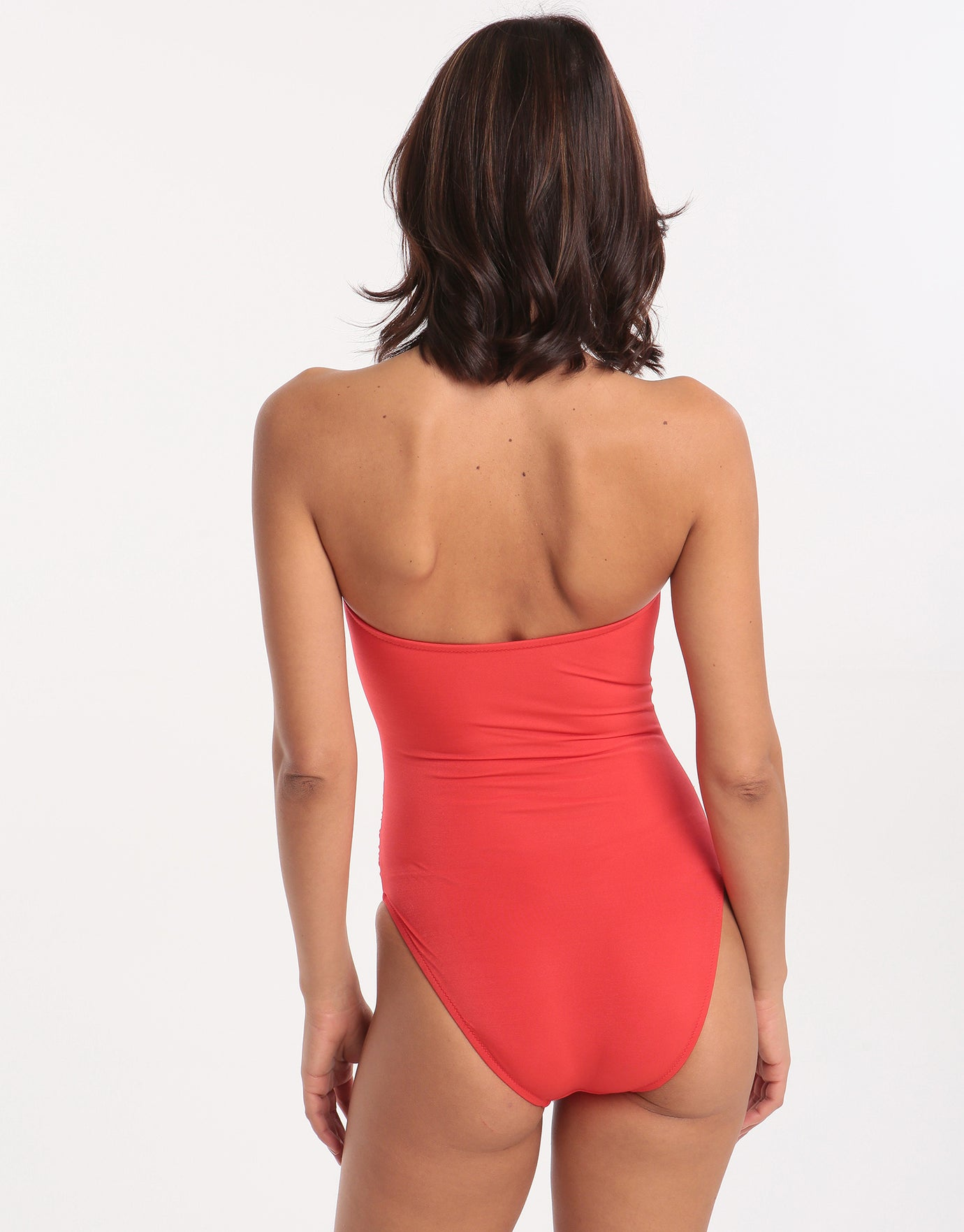 Roidal Ceylan Linda Soft B Cup Swimsuit - Red Coral