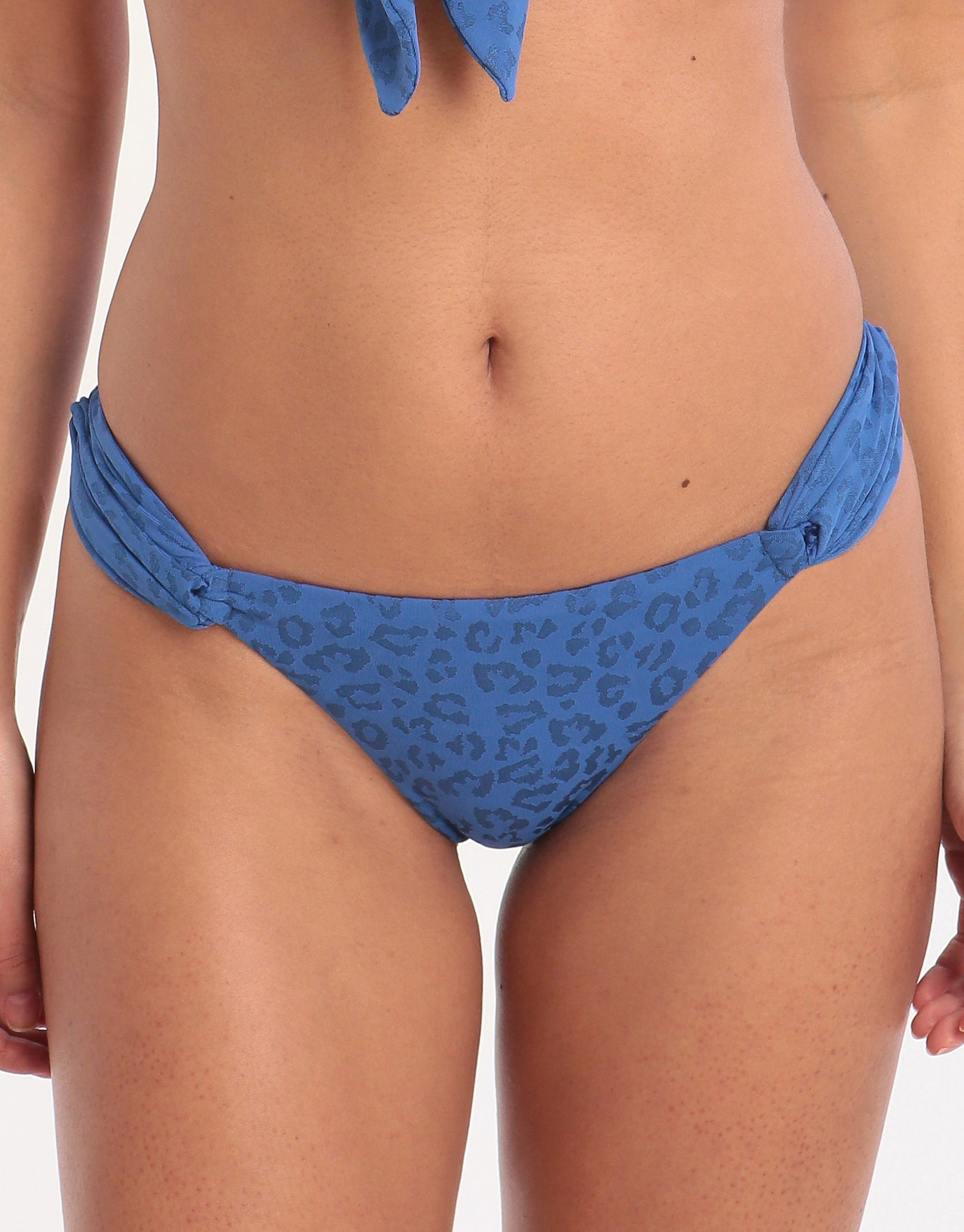 Banana Moon Couture Tomarin Avaya Tab Side Hipster Bikini Bottom - Blue