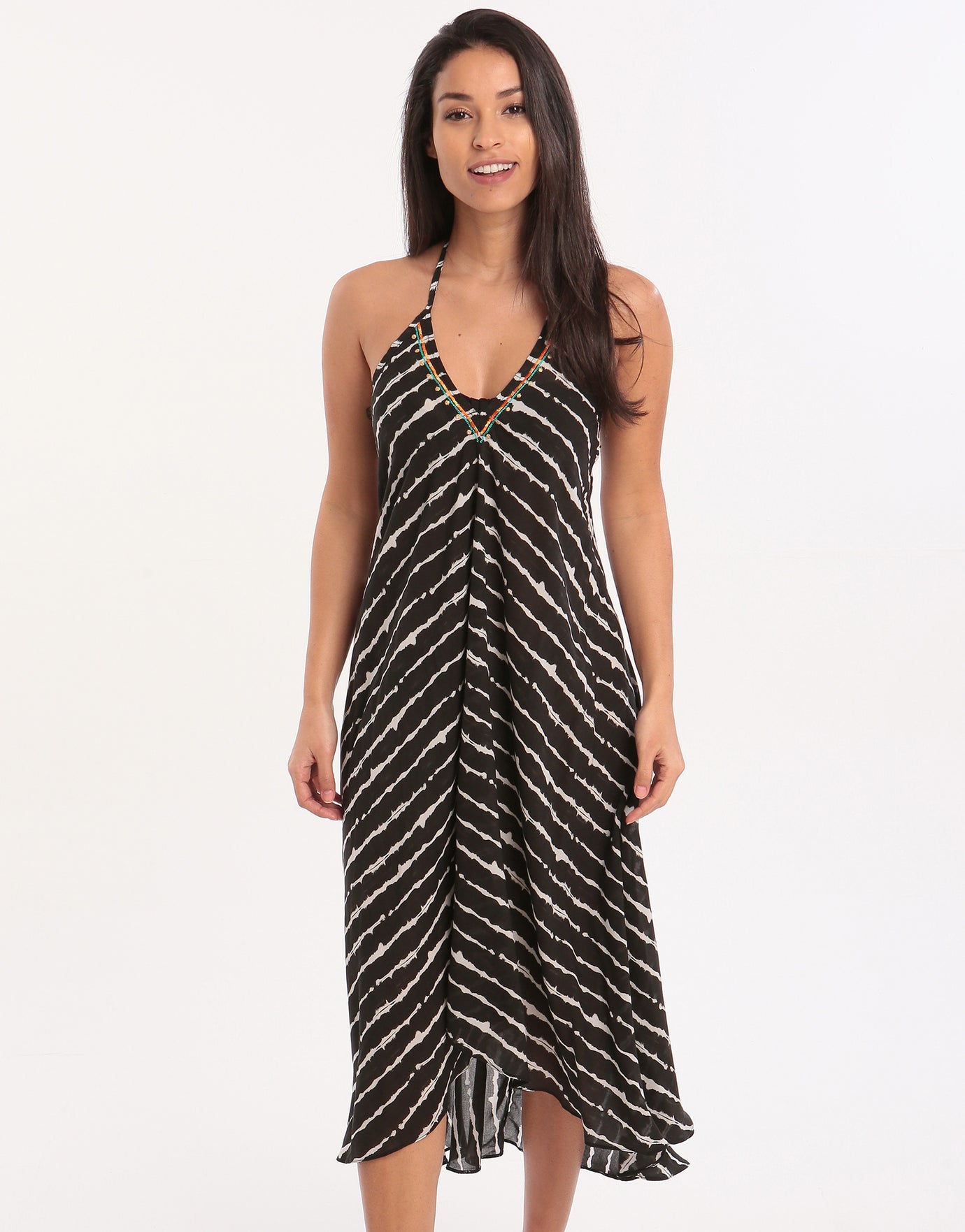 ac9bd52f40 Banana Moon Couture Watavoil Ohara Maxi Dress - Black | Simply Beach UK