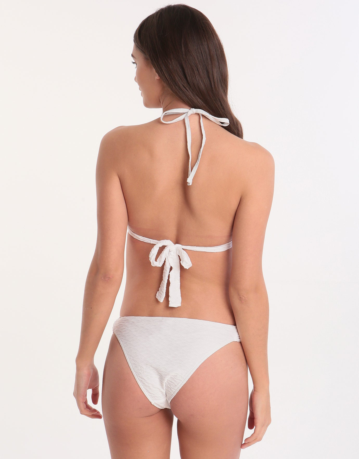 Banana Moon Aldridge Torio Ring Halter Bikini Top - White