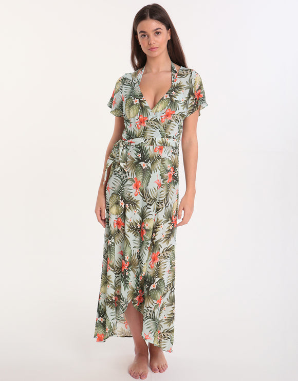 Banana Moon Iquitosvoil Gulia Wrap Dress - Sky
